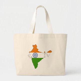 Mapa de la bandera de la India del mismo tamaño Bolsa De Mano