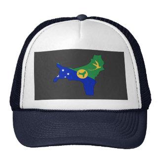 Mapa de la bandera de la Isla de Navidad Gorro De Camionero