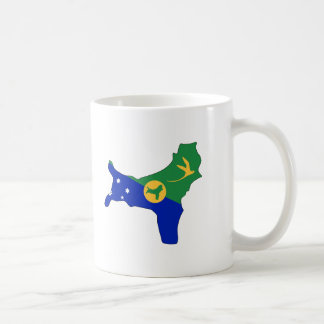 Mapa de la bandera de la Isla de Navidad Taza De Café