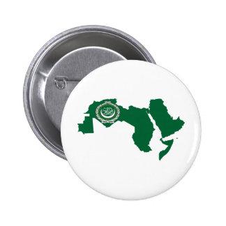 Mapa de la bandera de la liga árabe del mismo tama pins