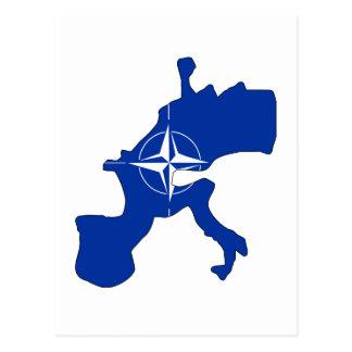 Mapa de la bandera de la OTAN Tarjetas Postales