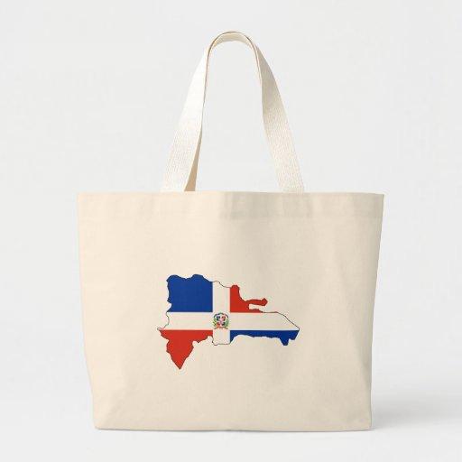Mapa de la bandera de la República Dominicana del  Bolsas Lienzo