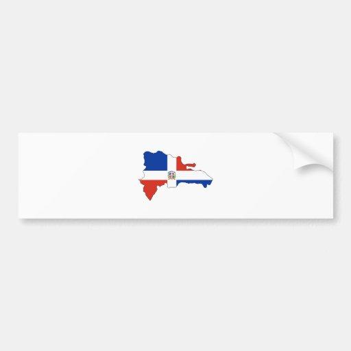 Mapa de la bandera de la República Dominicana del  Pegatina Para Auto