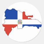 Mapa de la bandera de la República Dominicana Etiqueta