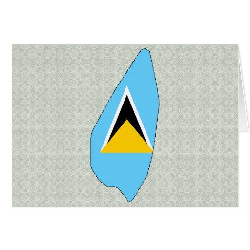 Mapa de la bandera de la Santa Lucía del mismo tam Felicitaciones