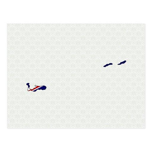 Mapa de la bandera de las Islas Caimán del mismo t Tarjetas Postales