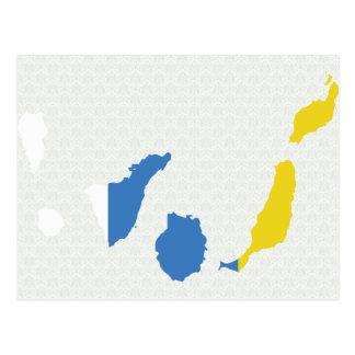 Mapa de la bandera de las islas Canarias del mismo Postales