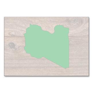 Mapa de la bandera de Libia del equipo en la
