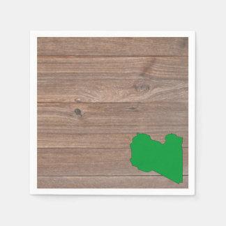 Mapa de la bandera de Libia del equipo en la Servilletas Desechables