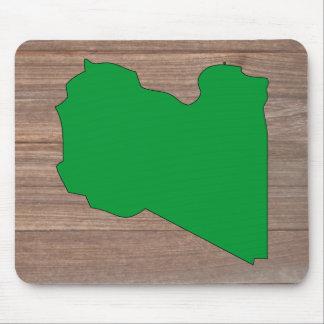 Mapa de la bandera de Libia del equipo en la Tapetes De Ratones