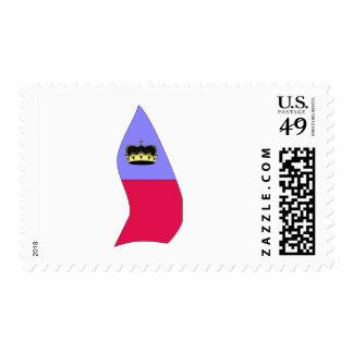 Mapa de la bandera de Lichtenstein Franqueo