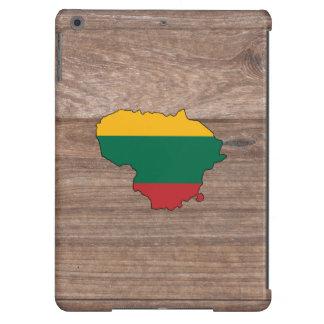 Mapa de la bandera de Lituania del equipo en la Funda Para iPad Air