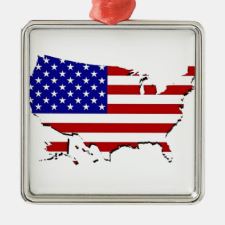 Mapa de la bandera de los E.E.U.U. Adornos