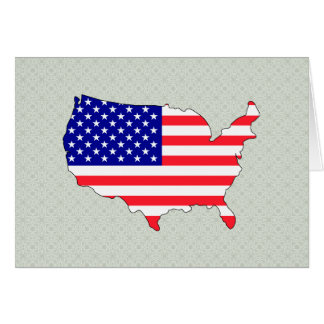 Mapa de la bandera de los E.E.U.U. del mismo tamañ Tarjeta De Felicitación