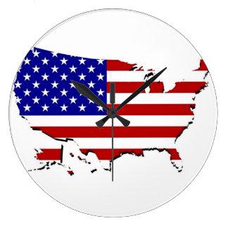 Mapa de la bandera de los E.E.U.U. Relojes