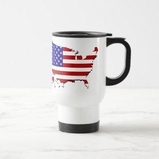 Mapa de la bandera de los E.E.U.U. Tazas De Café