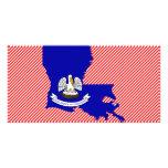 Mapa de la bandera de Luisiana Tarjeta Fotografica Personalizada