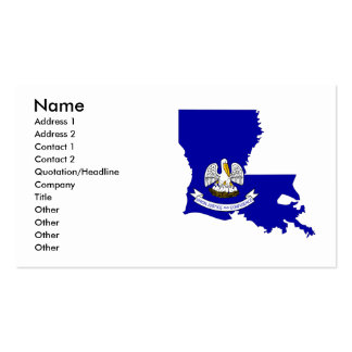 Mapa de la bandera de Luisiana Tarjetas De Visita