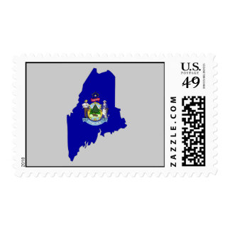 Mapa de la bandera de Maine Sello