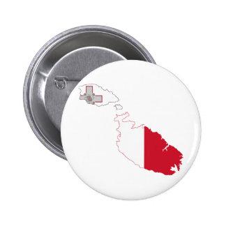 Mapa de la bandera de Malta del mismo tamaño Pin