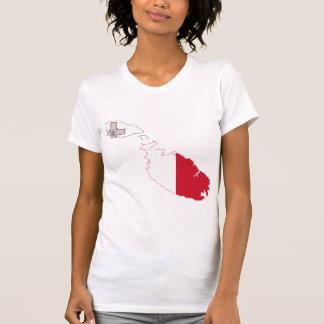 Mapa de la bandera de Malta del mismo tamaño Camisetas