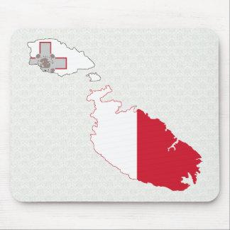 Mapa de la bandera de Malta del mismo tamaño Tapete De Ratón