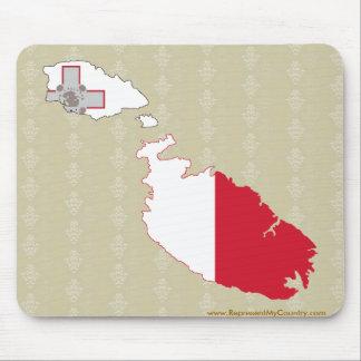 Mapa de la bandera de Malta del mismo tamaño Tapete De Raton