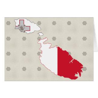Mapa de la bandera de Malta del mismo tamaño Tarjetón