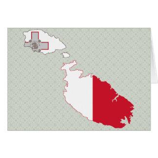 Mapa de la bandera de Malta del mismo tamaño Felicitación