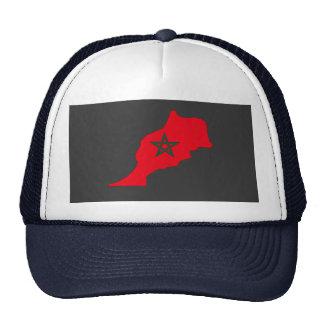 Mapa de la bandera de Marruecos Gorros Bordados