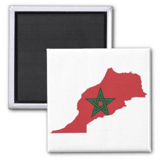 Mapa de la bandera de Marruecos Imán Cuadrado