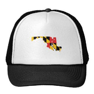 Mapa de la bandera de Maryland Gorro De Camionero