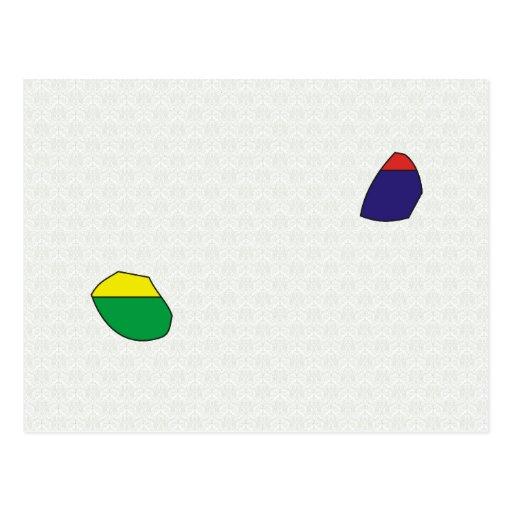 Mapa de la bandera de Mauricio del mismo tamaño Tarjetas Postales