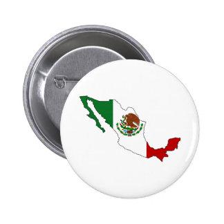Mapa de la bandera de México del mismo tamaño Pin