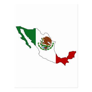Mapa de la bandera de México Postal