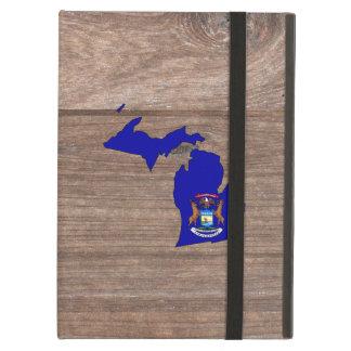 Mapa de la bandera de Michigan del equipo en la