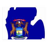 Mapa de la bandera de Michigan Postal