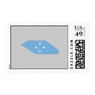 Mapa de la bandera de Micronesia Sellos