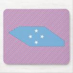 Mapa de la bandera de Micronesia Alfombrilla De Raton