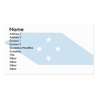 Mapa de la bandera de Micronesia Tarjetas De Visita