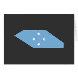 Mapa de la bandera de Micronesia Tarjeta De Felicitación