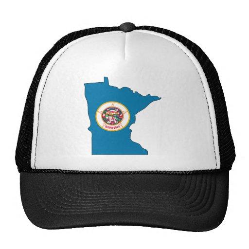 Mapa de la bandera de Minnesota Gorras