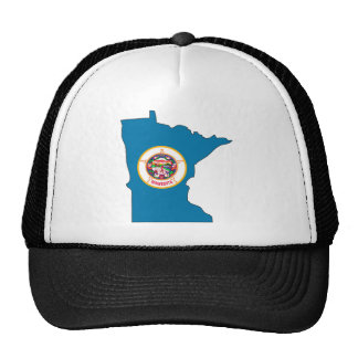 Mapa de la bandera de Minnesota Gorras De Camionero