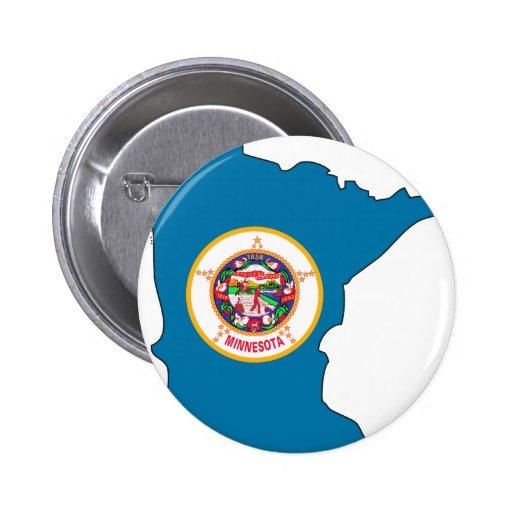 Mapa de la bandera de Minnesota Pins