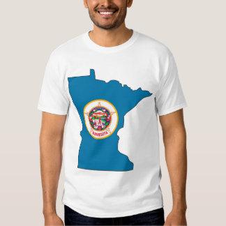 Mapa de la bandera de Minnesota Playera