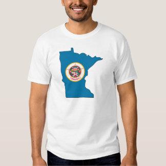 Mapa de la bandera de Minnesota Playeras
