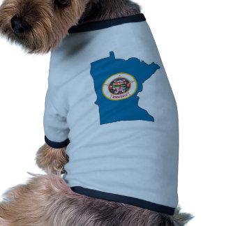 Mapa de la bandera de Minnesota Camiseta De Perrito