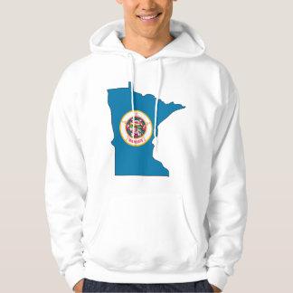Mapa de la bandera de Minnesota Sudadera