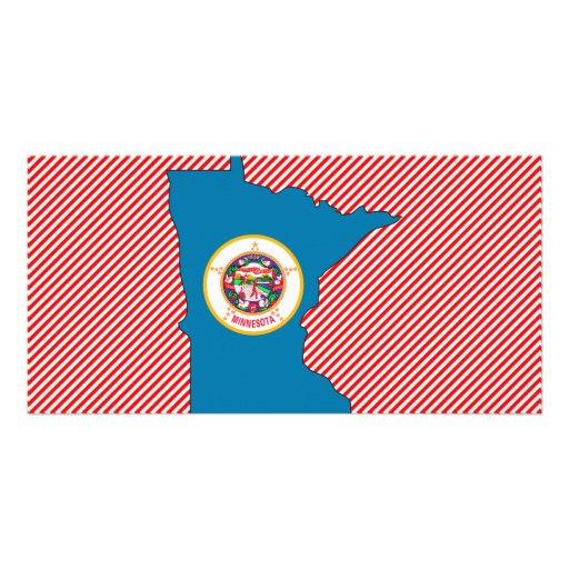 Mapa de la bandera de Minnesota Tarjeta Personal
