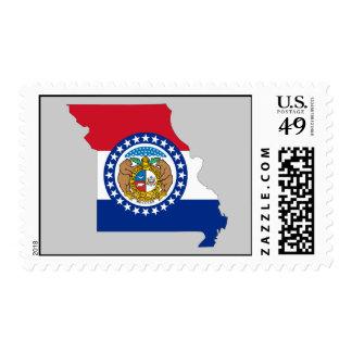 Mapa de la bandera de Missouri Franqueo